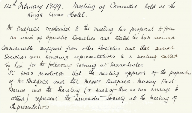 From the LADOS Minutes - 14th February 1899