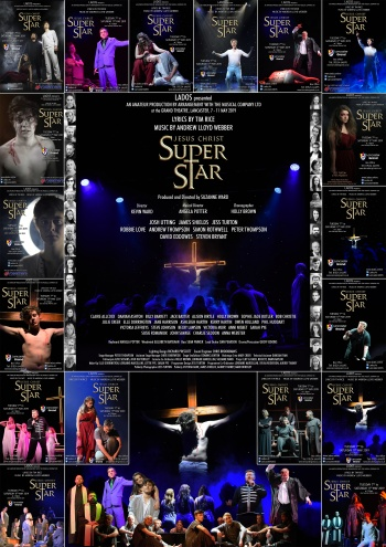 A Montage of all the social media posters created for Jesus Christ Superstar 2019.